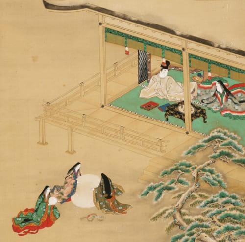 源氏物語朝顔図(部分) 土佐光起筆 1幅 日本・江戸時代 17世紀 根津美術館蔵