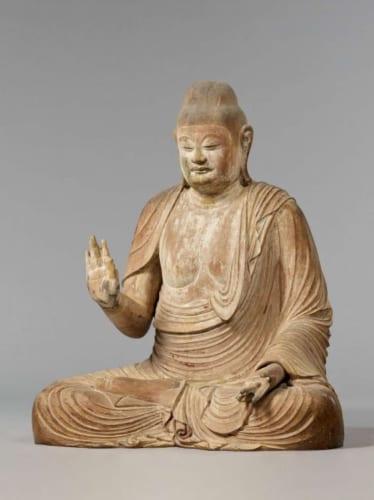 国宝「釈迦如来坐像」平安時代・9世紀 奈良・室生寺蔵 画像提供・奈良国立博物館
