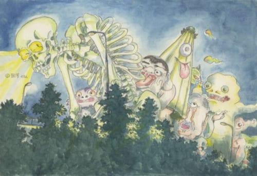 「平成狸合戦ぽんぽこ」イメージボード  (C) 1994 畑事務所・Studio Ghibli・NH