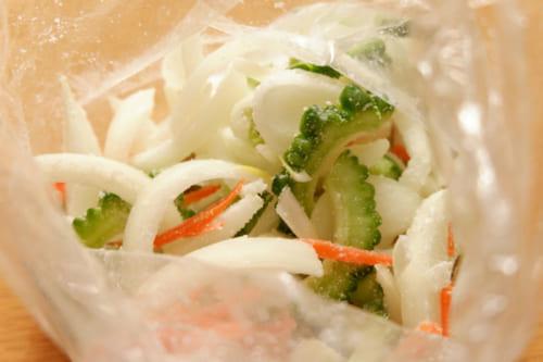 ゴーヤ入り野菜かき揚げ