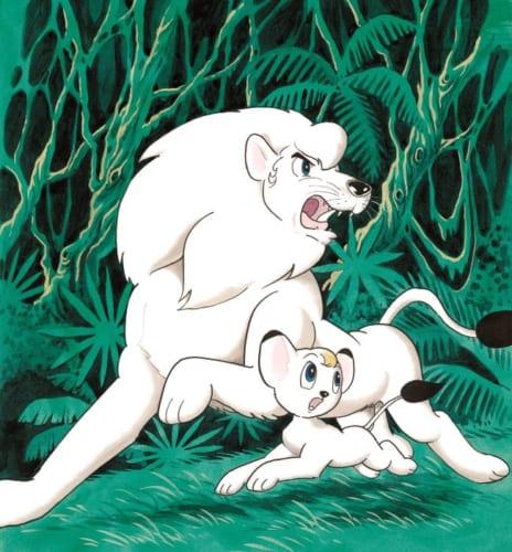 サンデー・コミックス『ジャングル大帝』第1巻 表紙絵(1966年1月1日発行)(C)手塚プロダクション