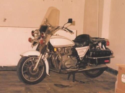 「ポリス1000」とも呼ばれるZ1000P。よくハーレーダビッドソンと間違われるジョンとパンチの愛車ですが、実はこのZ1000Pでした。