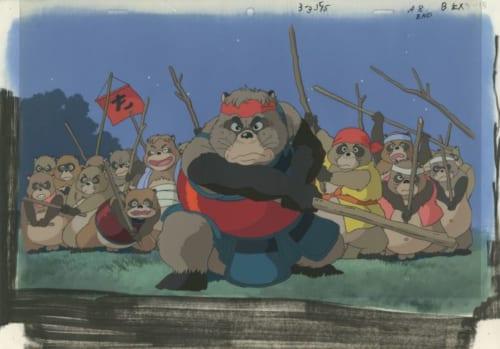 「平成狸合戦ぽんぽこ」セル付き背景画  (C) 1994 畑事務所・Studio Ghibli・NH