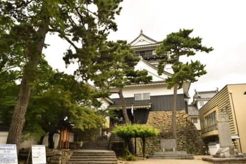 昭和34年、鉄筋コンクリートで付櫓と井戸櫓が付属する天守が再建。本来、最上階の高欄は存在しない