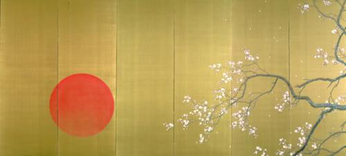 重要文化財 下村観山《弱法師(左隻)》 大正4(1915)年、絹本金地着色・六曲一双 各186.4×406.0cm 東京国立博物館蔵 Image:TNM Image Archives *展示期間:2019年8月9日(金)~9月1日(日)