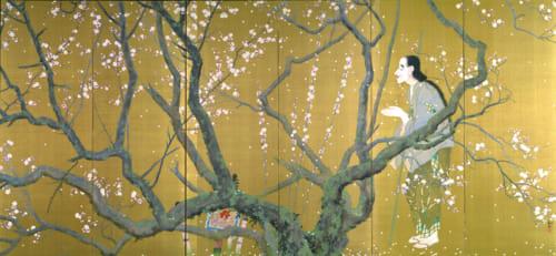 重要文化財 下村観山《弱法師(右隻)》 大正4(1915)年、絹本金地着色・六曲一双 各186.4×406.0cm 東京国立博物館蔵 Image:TNM Image Archives *展示期間:2019年8月9日(金)~9月1日(日)