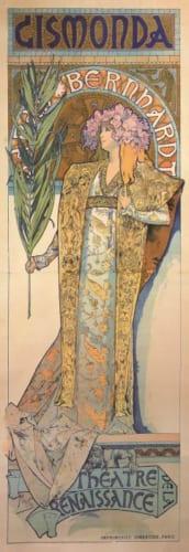アルフォンス・ミュシャ《ジスモンダ》1894年 カラーリトグラフ ミュシャ財団蔵 (C)Mucha Trust 2019