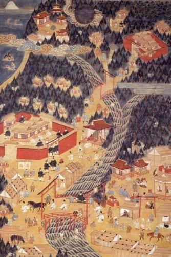 伊勢参詣曼荼羅 2幅 江戸時代・17世紀 三井文庫蔵