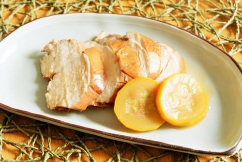 紅茶鶏のフルーツビネガーソース