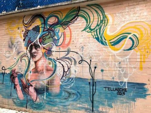 実はこれ、幼稚園の壁なのである。もともと壁画が盛んなメキシコゆえ、抵抗がないのだろう。
