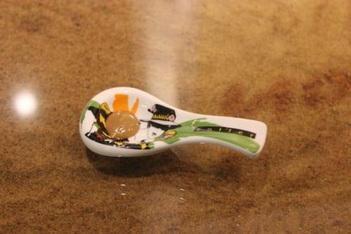 陶器の試食スプーン