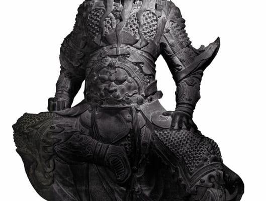関羽像(かんうぞう) 青銅製 明時代・15~16世紀 新郷市博物館蔵