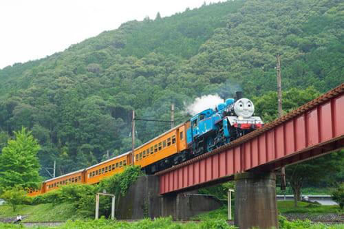 7位 「きかんしゃトーマス号」<大井川鐵道(おおいがわてつどう)>