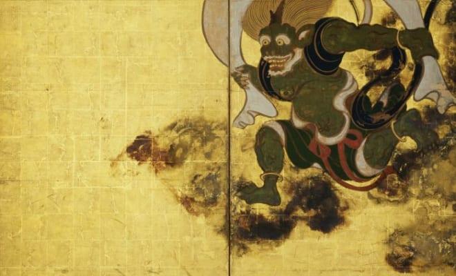 国宝《風神雷神図屛風》・右隻 俵屋宗達筆 京都・建仁寺所蔵