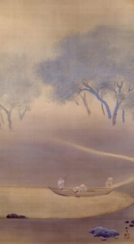 菱田春草《釣帰》1901(明治34)年 絹本・彩色 山種美術館蔵