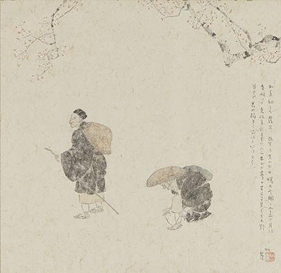 「奥の細道 谷中」小杉放菴 昭和時代 出光美術館蔵