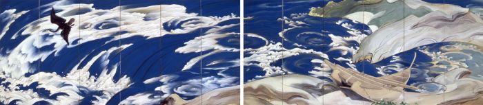 川端龍子《鳴門》1929(昭和4)年 絹本・彩色 山種美術館蔵