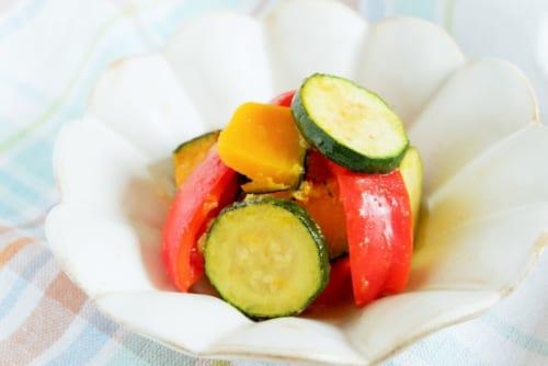 夏野菜の煎り酒焼き浸し