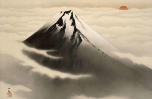 横山大観《富士山》1933(昭和8)年 絹本・墨画淡彩 山種美術館蔵