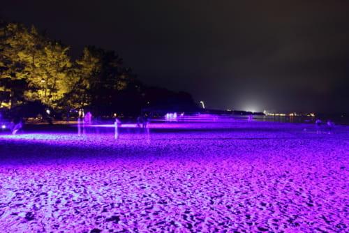 5位:【京都府】天橋立 砂浜ライトアップ