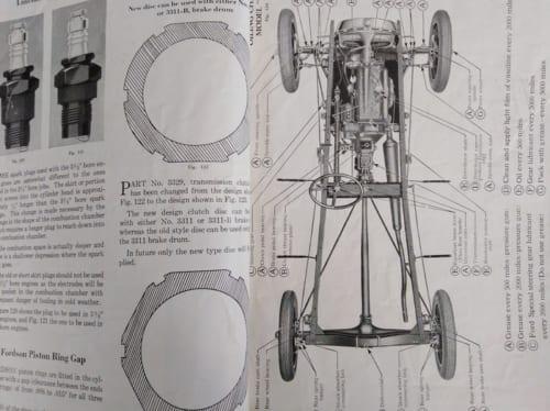 長年利用している車体の構造図の冊子