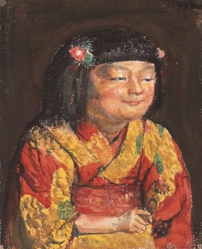 《麗子微笑像》1921年10月1日 上原美術館