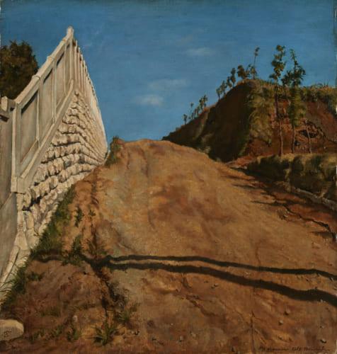 《道路と土手と塀(切通之写生)》重要文化財 1915年11月5日 東京国立近代美術館