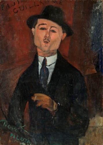 アメディオ・モディリアーニ《新しき水先案内人ポール・ギヨームの肖像》1915年 Photo (c) RMN-Grand Palais (musée de l' Orangerie) / Hervé Lewandowski / distributed by AMF