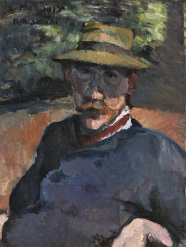 《B.L.の肖像(バーナード・リーチ像)》1913年5月12日 東京国立近代美術館