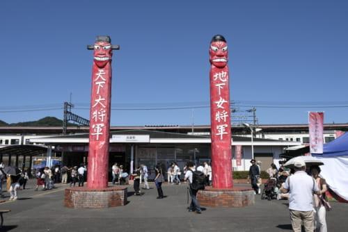 将軍票が立つ西武秩父線高麗駅