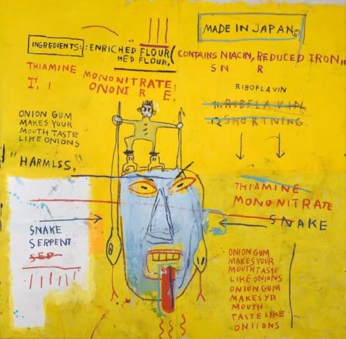 ジャン=ミシェル・バスキア Onion Gum,1983 Courtesy Van de Weghe Fine Art,New York Photo:Camerarts,New York Artwork (C) Estate of Jean-Michel Basquiat Licensed by Artestar,New York
