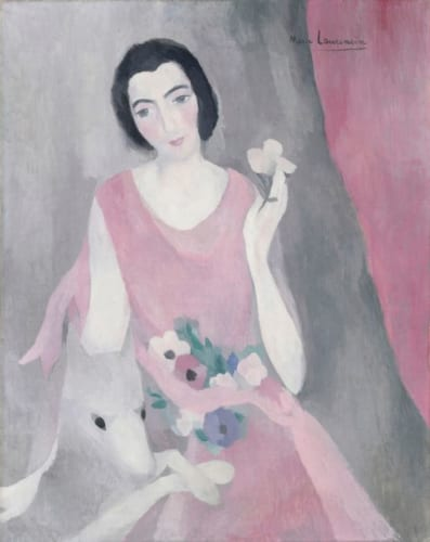 マリー・ローランサン《ポール・ギヨーム夫人の肖像》1924- 28年頃 Photo (c) RMN-Grand Palais (musée de l' Orangerie) / Hervé Lewandowski / distributed by AMF