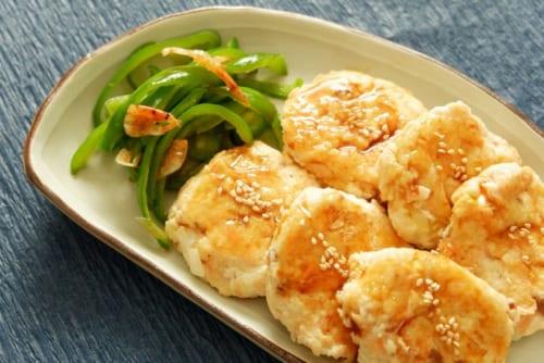 秋鮭と豆腐のふわふわつくね