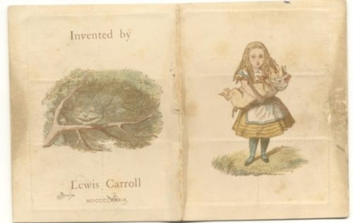 ルイス・キャロル《切手ケース》1890年 紙 Lewis Carroll,The Wonderland postage stamp case.The Rosenbach,Philadelphia