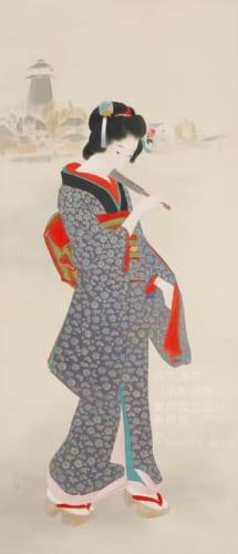 鏑木清方《浜町河岸》1930(昭和5)年 絹本彩色・軸装 東京国立近代美術館蔵 (C)Nemoto Akio