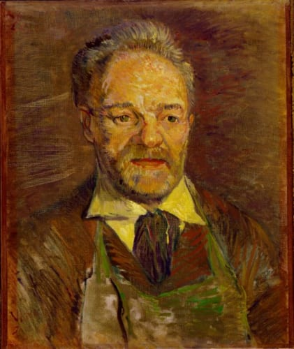 フィンセント・ファン・ゴッホ《タンギー爺さんの肖像》1887年1月 ニュ・カールスベア美術館 (C)Ny Carlsberg Glyptotex, Copenhagen Photo: Ole Haupt