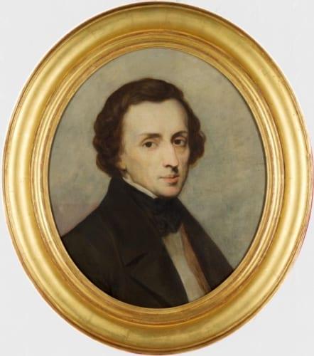 アリ・シェフェール《フリデリク・ショパンの肖像》1847年 油彩、カンヴァス credit:Dordrechts Museum