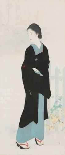 鏑木清方《築地明石町》1927(昭和2)年 絹本彩色・軸装 東京国立近代美術館蔵 (C)Nemoto Akio