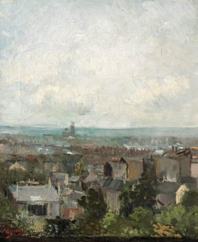 フィンセント・ファン・ゴッホ《パリの屋根》1886年春 アイルランド・ナショナル・ギャラリー (C)National Gallery of Ireland