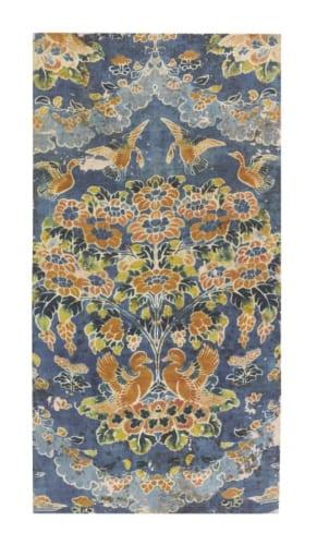 紺夾纈絁几褥 奈良時代・8世紀 正倉院宝物 (後期展示11月6日~24日)