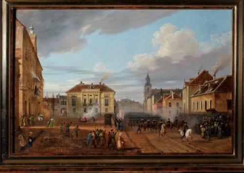 マルチン・ザレスキ《ヴェジブノからのポーランド軍部隊の帰還》1831年 油彩、カンヴァス (c)Ligier Piotr / Muzeum Narodowe w Warszawie