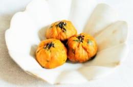 かぼちゃのクリームチーズ茶巾