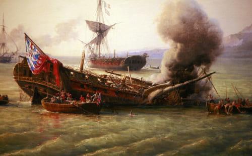 グランド・ポートの戦い。ナポレオン戦争中の英仏の海外拠点を巡る戦いのひとつ。モーリシャス攻防戦においてイギリスは海軍力で勝利。