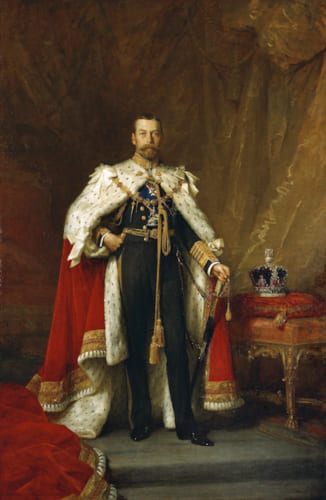 ジョージ5世。熱心な切手収集家でもあった。