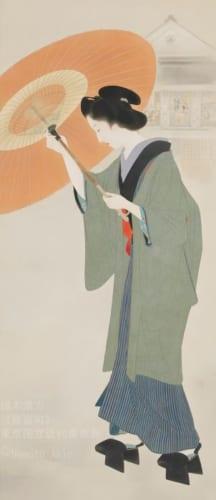鏑木清方《新富町》 1930(昭和5)年 絹本彩色・軸装 東京国立近代美術館蔵 (C)Nemoto Akio