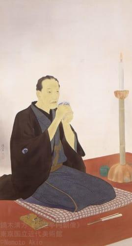 鏑木清方《三遊亭円朝像》重要文化財 1930(昭和5)年 絹本彩色・軸装 東京国立近代美術館蔵 (C)Nemoto Akio
