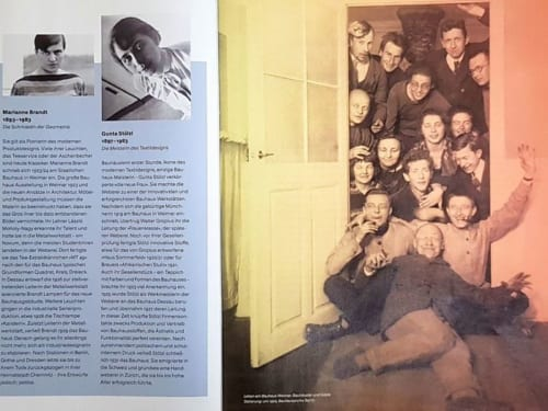 バウハウス100周年のパンフレットより。バウハウスの人々。