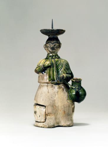 「織部南蛮人燭台」桃山時代 17世紀 サントリー美術館