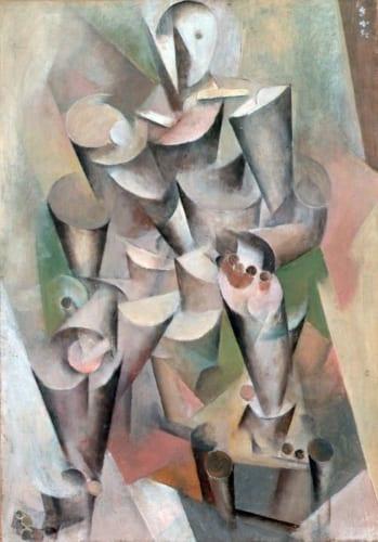 坂田一男《キュビスム的人物像》1925年 岡山県立美術館蔵