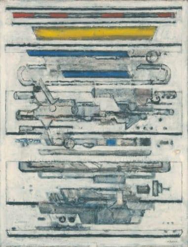 坂田一男《コンポジション(メカニック・エレメント)》1955年 岡山県立美術館蔵